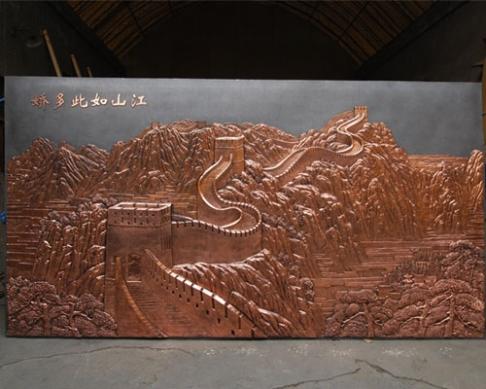 3.73米×2.01米铸铜万里长城