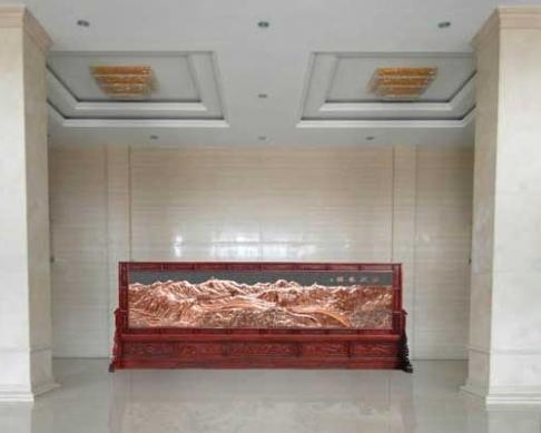 蛟河市法院制作的6.8-2.8米屏风
