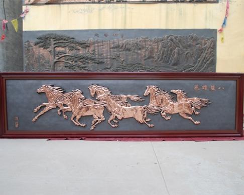 6.6米×1.6米大型铸铜浮雕壁画