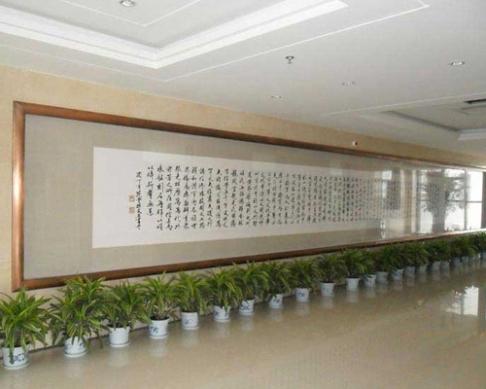 郑州机务段定制的12.2x1.7米大型壁画