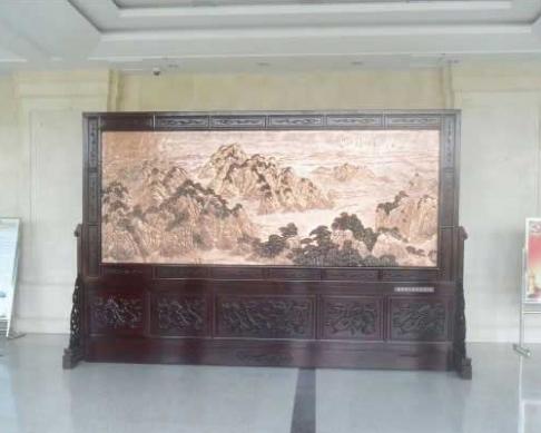 黄石市下陆区人民检察院定做的屏风4600x3060mm祖国颂