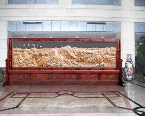 重庆某单位定做的大型屏风万里长城