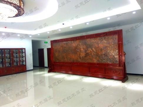 北京医药集团5.8米×2.6米李时珍采药图、沁园春雪