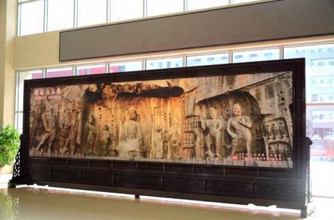 河南省人民政府8米×3米红木屏风
