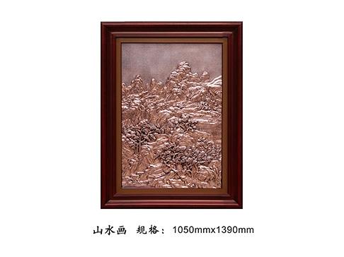 铜壁画FD050 山水画